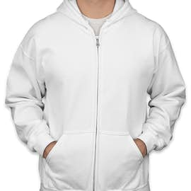 Gildan Midweight Zip Hoodie - Color: White