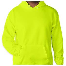 Hanes EcoSmart® 50/50 Pullover Hoodie - Color: Safety Green