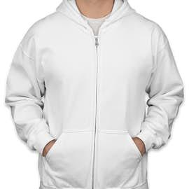 Canada - Gildan Midweight Zip Hoodie - Color: White