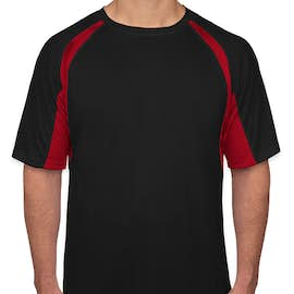 Badger B-Dry Contrast Performance Shirt - Color: Black / Red