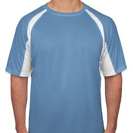Badger B-Dry Contrast Performance Shirt - Color: Columbia Blue / White
