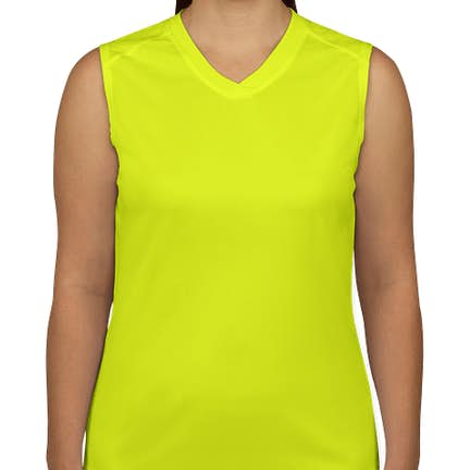 5940331acfd0d ... Badger B-Dry Women s Sleeveless Performance Shirt - Color  Safety  Yellow ...