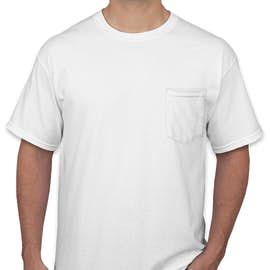 Canada - Gildan Ultra Cotton Pocket T-shirt - Color: White