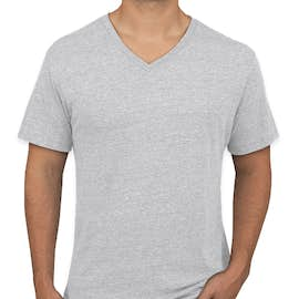 Next Level Tri-Blend V-Neck T-shirt - Color: Heather White