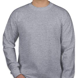 Bayside 100% Cotton USA Long Sleeve T-shirt - Color: Dark Ash