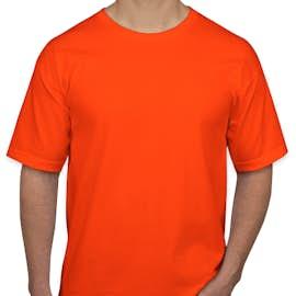 Bayside 100% Cotton USA T-shirt - Color: Bright Orange