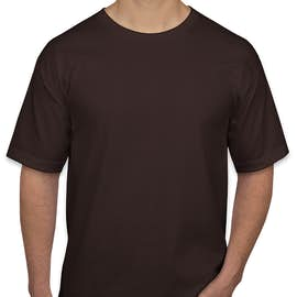 Bayside 100% Cotton USA T-shirt - Color: Chocolate