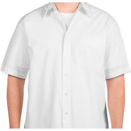Port Authority Short Sleeve Easy Care Shirt - Color: White / Light Stone