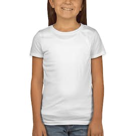 Next Level Youth Girls Jersey T-shirt - Color: White