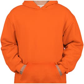 Bayside Heavyweight USA Pullover Hoodie - Color: Bright Orange