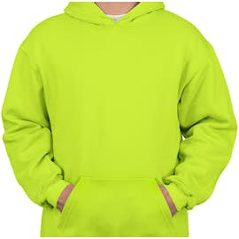 Bayside Heavyweight USA Pullover Hoodie - Color: Lime Green