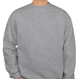 Bayside Heavyweight USA Crewneck Sweatshirt - Color: Dark Ash