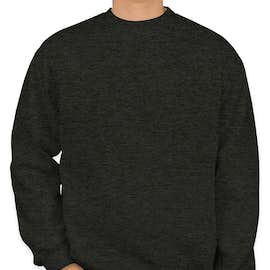 Bayside Heavyweight USA Crewneck Sweatshirt - Color: Charcoal Heather
