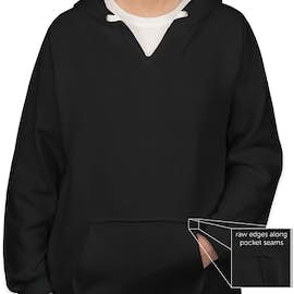 J. America Women's V-Neck Pullover Hoodie - Color: Black