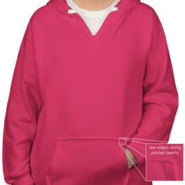 J. America Women's V-Neck Pullover Hoodie - Color: Wildberry
