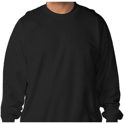 536a35b92f723 ... Hanes Ultimate Heavyweight Crewneck Sweatshirt - Color  Black ...