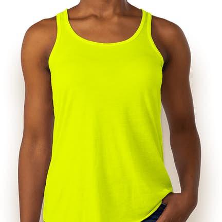 99b47c9add0 ... Sunset Bella + Canvas Women's Flowy Racerback Tank - Color: Neon Yellow  ...
