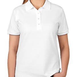 Jerzees Women's Spotshield 50/50 Jersey Polo - Color: White