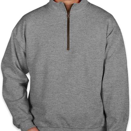 2690b7b4 ... Gildan Vintage Quarter Zip Sweatshirt - Color: Graphite Heather ...