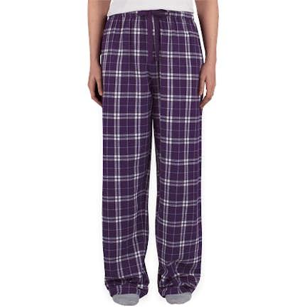 6521f8493e ... Boxercraft Juniors Flannel Pajama Pants - Color  Purple   White ...