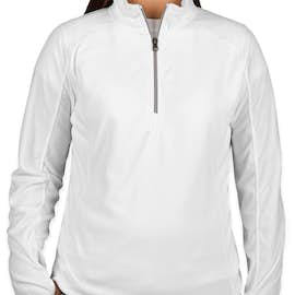 Port Authority Women's Quarter Zip Microfleece Pullover - Color: White