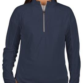Port Authority Women's Quarter Zip Microfleece Pullover - Color: True Navy