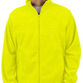 Harriton Full Zip Fleece Jacket - Color: Safety Yellow