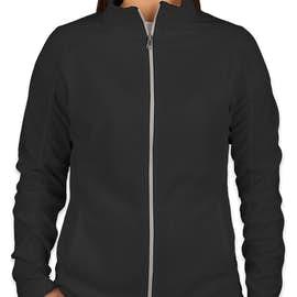 Port Authority Women's Full Zip Microfleece Jacket - Color: Black