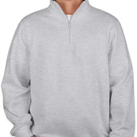 Sport-Tek Premium Quarter Zip Sweatshirt - Color: Athletic Heather