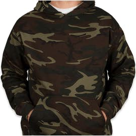 Code 5 Camo Pullover Hoodie - Color: Green Woodland