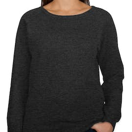 Independent Trading Juniors Lightweight Crewneck Sweatshirt - Color: Charcoal Heather