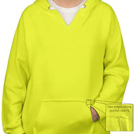 J. America Women's Neon V-Neck Pullover Hoodie - Color: Neon Yellow
