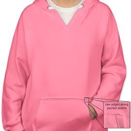 J. America Women's Neon V-Neck Pullover Hoodie - Color: Neon Pink