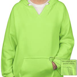 J. America Women's Neon V-Neck Pullover Hoodie - Color: Neon Green