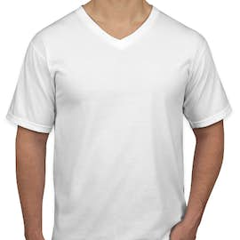 Canada - Anvil Jersey V-Neck T-shirt - Color: White
