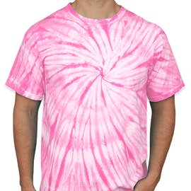 Dyenomite 100% Cotton Tonal Tie-Dye T-shirt - Color: Pink