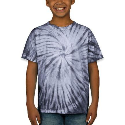 a10e7b0e ... Dyenomite Youth 100% Cotton Tonal Tie-Dye T-shirt - Color: Silver ...