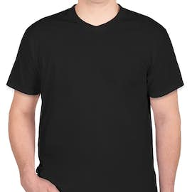 Hanes V-Neck Nano-T - Color: Black