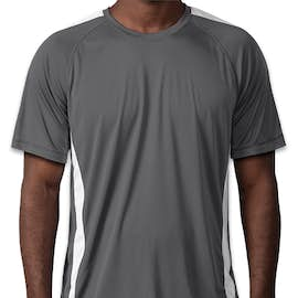 Sport-Tek Competitor Colorblock Performance Shirt - Color: Iron Grey / White