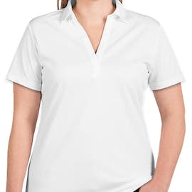 Port Authority Women's Silk Touch Performance Polo - Screen Printed - Color: White