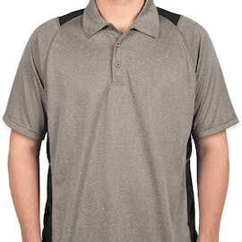 Sport-Tek Contrast Performance Polo - Color: Vintage Heather / Black