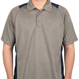 Sport-Tek Contrast Performance Polo - Color: Vintage Heather / True Navy