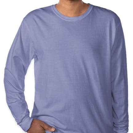 2c87e745 ... Comfort Colors 100% Cotton Long Sleeve Shirt - Color: Flo Blue ...