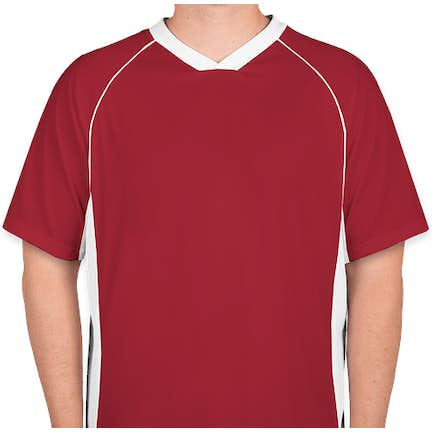 eff60572eb1d2 ... Augusta Colorblock Performance Soccer Jersey - Color: Red / White ...