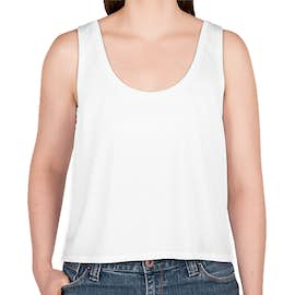 Bella + Canvas Women's Flowy Crop Tank - Color: White