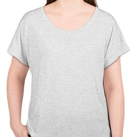 Next Level Women's Tri-Blend Dolman T-shirt - Color: Heather White