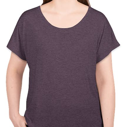 100502b9e ... Next Level Women's Tri-Blend Dolman T-shirt - Color: Vintage Purple ...
