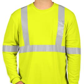 CornerStone Class 2 Long Sleeve Performance Safety Pocket Shirt - Color: Safety Yellow