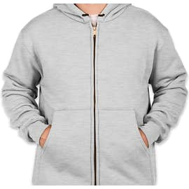 CornerStone Heavyweight Lined Zip Hooded Work Jacket - Color: Athletic Heather