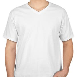 Canada - Fruit of the Loom 100% Cotton V-Neck T-shirt - Color: White